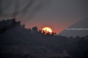 Sunset at Mekanagadde